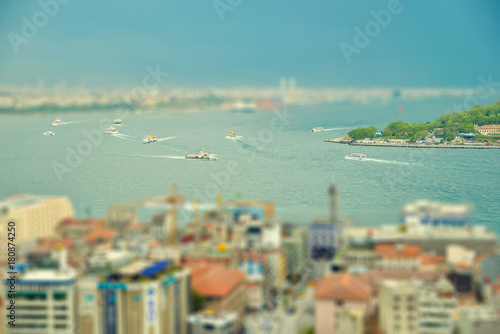 Istanbul view from above Poster