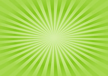 Abstract Soft Green Rays Background. Vector