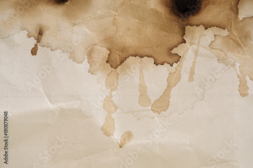Coffee stain / Dry coffee stain on paper background. Fototapet
