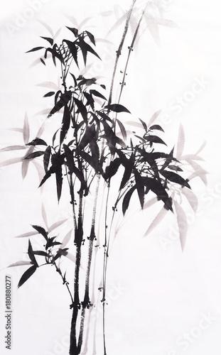 tradycyjny-chinski-malowany-na-czarno-bambus