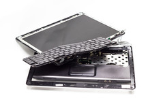 Laptop Old Broken Damaged With...