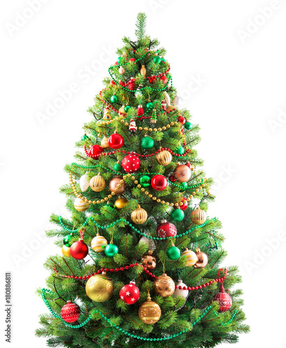 Christmas Tree White Background.Beautiful Christmas Tree Isolated On White Background Buy