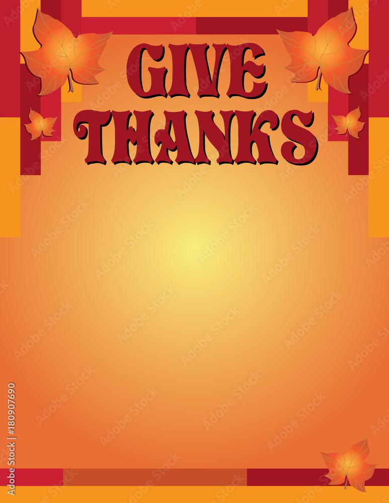 Fényképezés  Give Thanks Thanksgiving Flyer