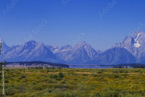 Cadres-photo bureau Alpes Yellowstone-Nationalpark und die geothermalen Quellen in den Vereinigten Staaten