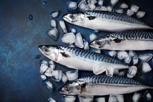 Raw Mackerel Fish With Ingredi...