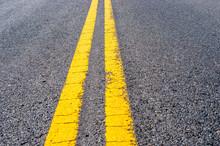 Yellow Double Dividing Line Ov...
