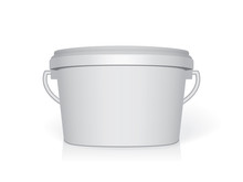 Plastic Bucket. Easy To Change Colors. Mock Up Vector Template