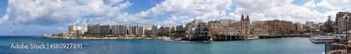 Fototapeta Panorama of Balluta Bay between Sliema and St. Julian's obraz