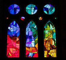 Modern Stained Glass In An Old...