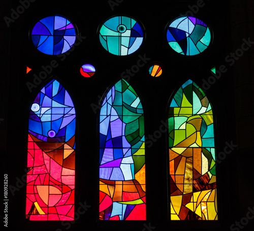 Fotomural Modern Stained Glass in an old Spanish Church