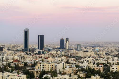 Abdali area the new downtown of Amman - Amman skyline Wallpaper Mural
