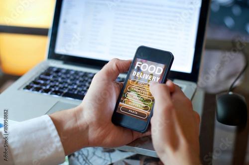order food on internet, restaurant meals delivery online © Song_about_summer