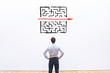 canvas print picture - problem and solution concept, business man thinking about exit from complex labyrinth