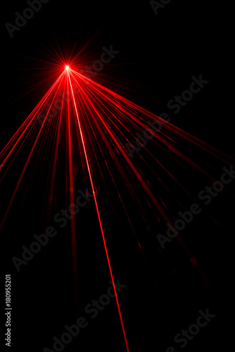 Laser beam light effect Canvas Print