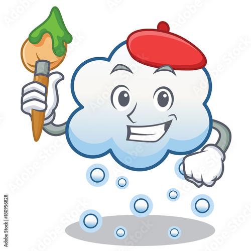 Foto op Plexiglas Hemel Artist snow cloud character cartoon