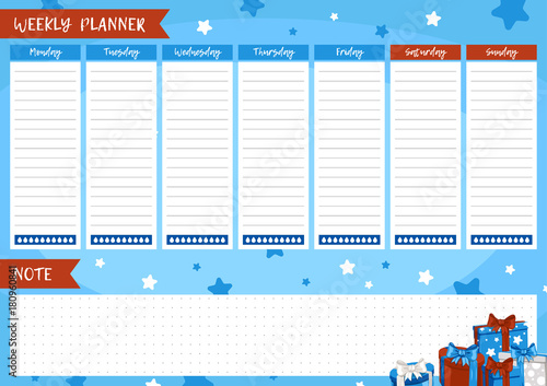 Printable weekly planner  Cute page for notes  Notebooks