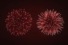 Beautiful Red Fireworks Set. B...