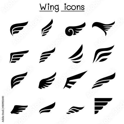 Foto  Wing icon set