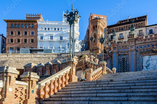 Modernist stairs in Teruel, Spain