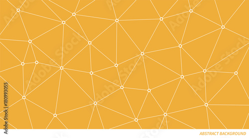 Fotografia  Abstract vector connection triangle pattern