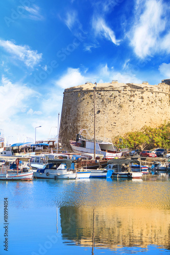 Foto op Aluminium Cyprus Beautiful view of Kyrenia Castle in Kyrenia (Girne), Northern Cyprus