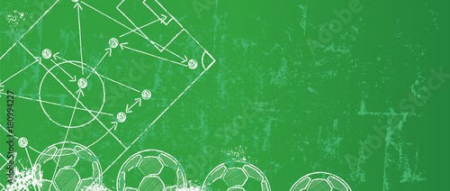 Photo  Grungy Soccer / Football design template,free copy space, vector