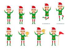 Set Of Female Christmas Elf Ch...