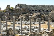Ruins Of An Ancient Greek Amphitheatre In Turkey