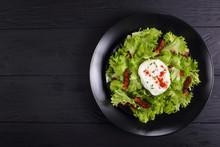French Salad Lyonnaise On A P...