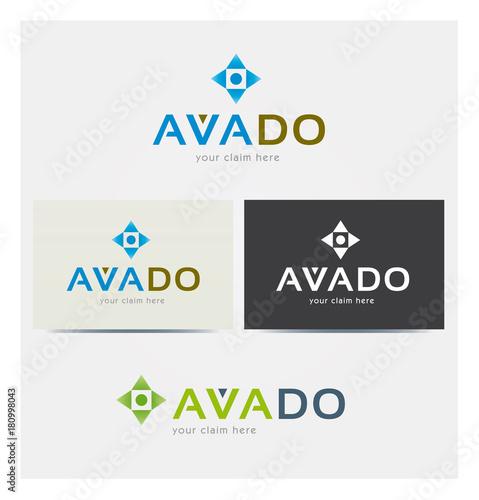 Logo Lettres A V Multicolore Icone Symboles Flches Point Carte De Visite Et Charte Graphique