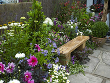 Garden Seating In A Colorful F...