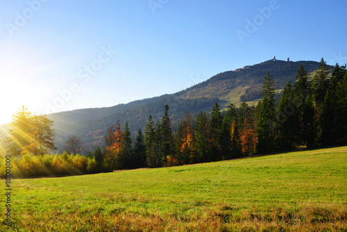 Photo Autumn landscape in Bavarian Forest National Park