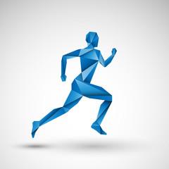 niebieski biegacz wektor