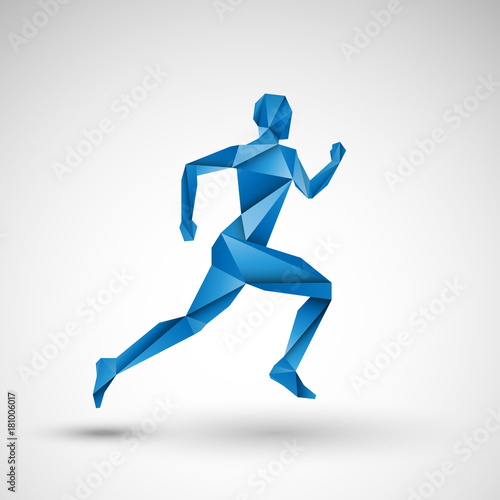 Fototapeta niebieski biegacz wektor obraz