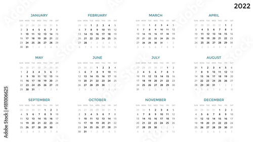 Time And Date Calendar 2022.Calendar Infographic Table Chart Presentation Chart Business Period Concept Task Manager Week Month 2022 Year Time Management Organizer Date Diary First Day Sunday Stock Vector Adobe Stock