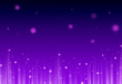 canvas print picture - Soft Purple glitter sparkles rays lights bokeh and star festive elegant abstract footer background.  Screen mode. footer design
