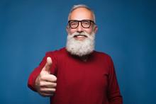Happy Modern Old Bearded Man I...