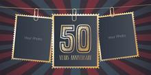 50 Years Anniversary Vector Em...