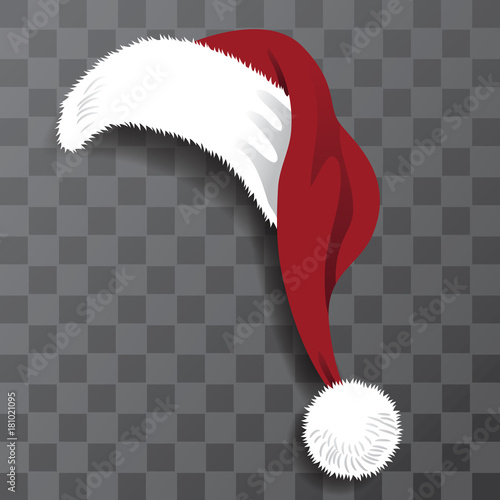 Fotografia  Illustrated Santa Claus hat perfect for photo booth or family Christmas card