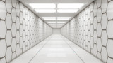 Fototapeta Perspektywa 3d - 3d rendering. Futuristic interior design background