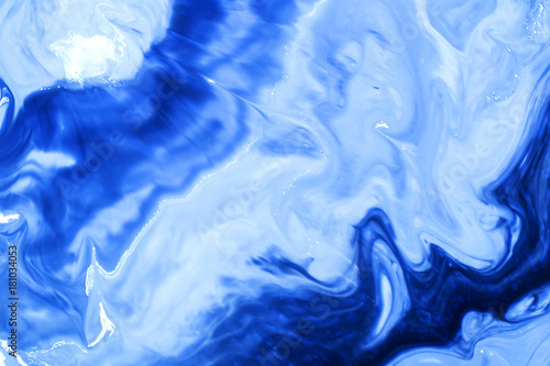 Photo sur Toile Cristaux Closeup abstract color mixing of acrylic for use as background. Acrylic texture with marble pattern, marbling background