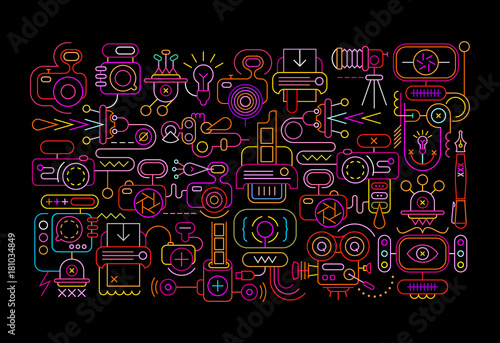 Poster Art abstrait Photography Equipment abstract design