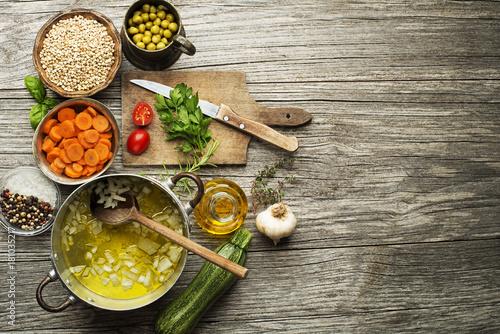 Photo buckwheat risotto