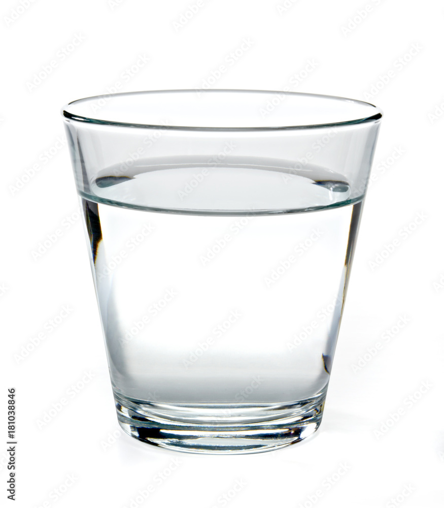 Fototapety, obrazy: Glass of water on white background including clipping path