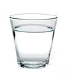Glass of water on white background including clipping path
