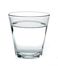 Glass Of Water On White Backgr...