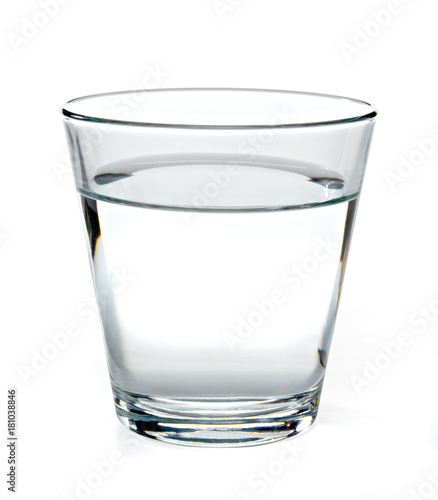 Cuadros en Lienzo Glass of water on white background including clipping path