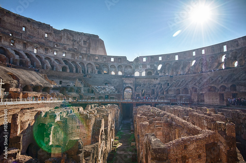 Fényképezés  The Colosseum in Rome, Italy, HDR