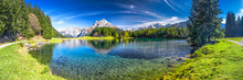 Arnisee With Swiss Alps. Arnis...