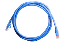 Blue Patch Cord Isolated